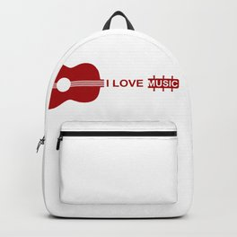 I love music #society6 #decor #buyart #artprint Backpack