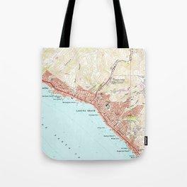 Vintage Map of Laguna Beach California (1965) Tote Bag