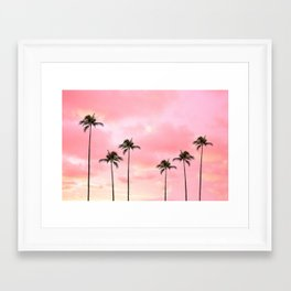 Palm Trees Photography | Hot Pink Sunset Framed Art Print