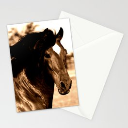 Horse print horse photography equestrian art sepia Poster Stationery Cards