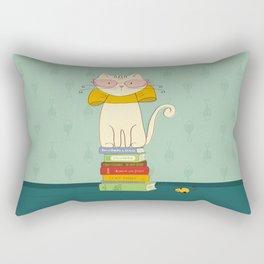 Criticat - your best book reviewer  Rectangular Pillow