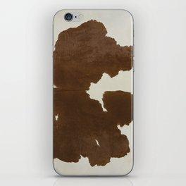 Dark Brown & White Cow Hide iPhone Skin