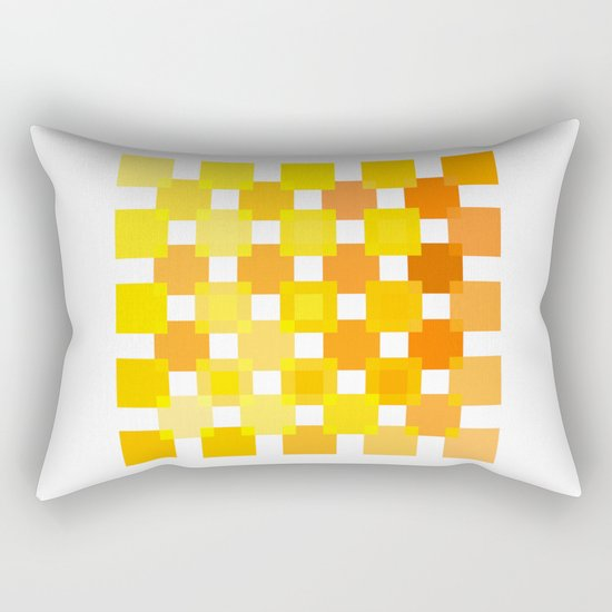 50 Squares of YELLOW - Living Hell Rectangular Pillow
