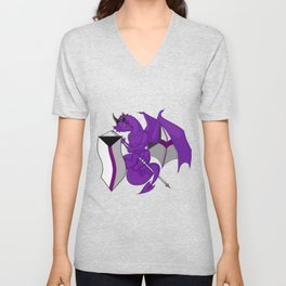 Pride Dragons - Demisexual Flag Unisex V-Neck