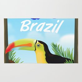 Rio Brazil Toucan travel poster Stationery Rug