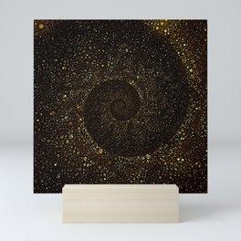 Gold Spiral Galaxy Mini Art Print