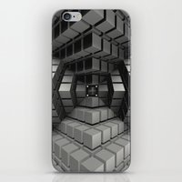 cyberpunk iPhone & iPod Skins featuring Time vs. Monolith by Obvious Warrior