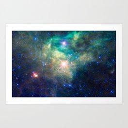 700. WISE Reveals a Hidden Star Cluster Art Print