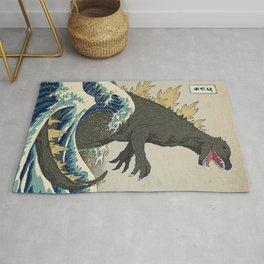 The Great Monster Off Kanagawa Rug