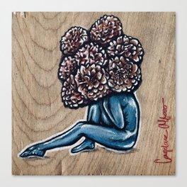 Flower for brains Canvas Print