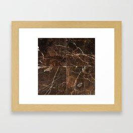 Brown Granite Squares Framed Art Print