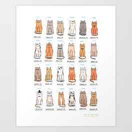 Cats of The World Art Print
