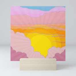Sixties Inspired Psychedelic Sunrise Surprise Mini Art Print