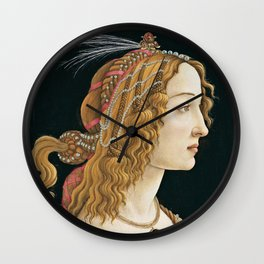 Botticelli - Portrait of a Young Woman   1480 Wall Clock