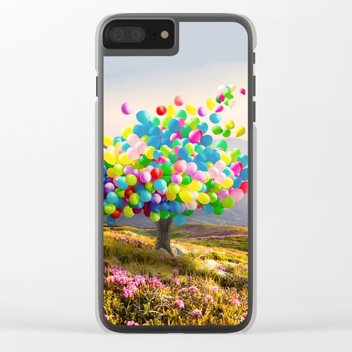 When Balloon Bloom Clear iPhone Case