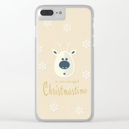 Christmas motif No. 4 Clear iPhone Case