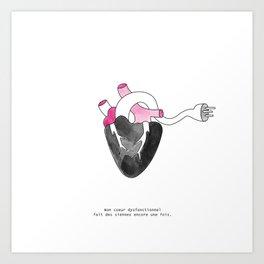 Coeur dysfonctionnel Art Print