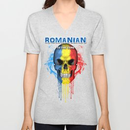 To The Core Collection: Romania Unisex V-Neck