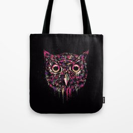 Colored Owl Tote Bag