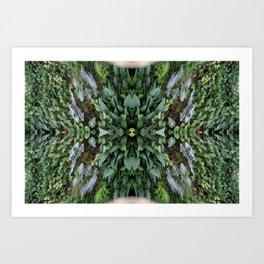 green eerie Art Print