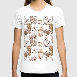 Cotton Flower & Rabbit Pattern 02 T-shirt