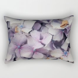 Mosaic Hydrangea  Rectangular Pillow