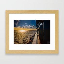 Caribean Sunset Framed Art Print