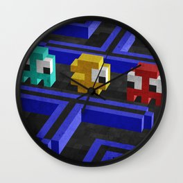Pac-Man's dilemma Wall Clock