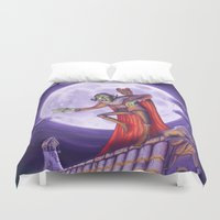 dracula Duvet Covers featuring Dracula by cheesecake