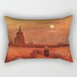 The Old Tower in the Fields by Vincent van Gogh Rectangular Pillow