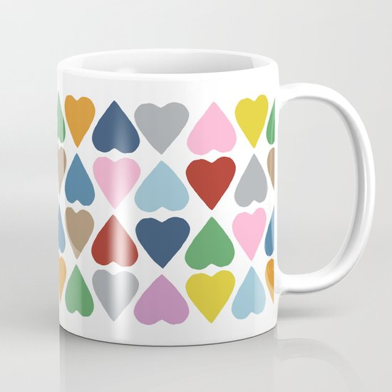 Diamond Hearts Repeat Mug