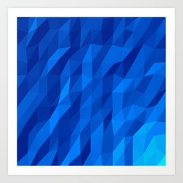 Blue Polygon v1 Art Print