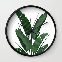 Banana Leaf Plant Collage Wall Clock