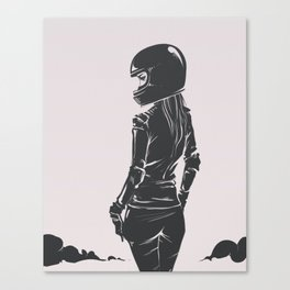 Moto Lady Canvas Print