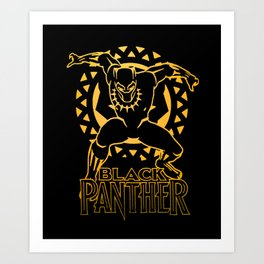 Black Panther Golden Warrior Art Print
