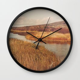 Autumn Mountains and River Wall Clock