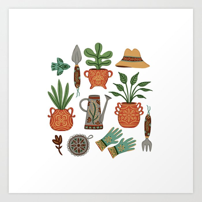 Mexican Garden Art Print by monkeymindesign | Society6