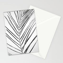 Black and White Palm Branch Stationery Cards
