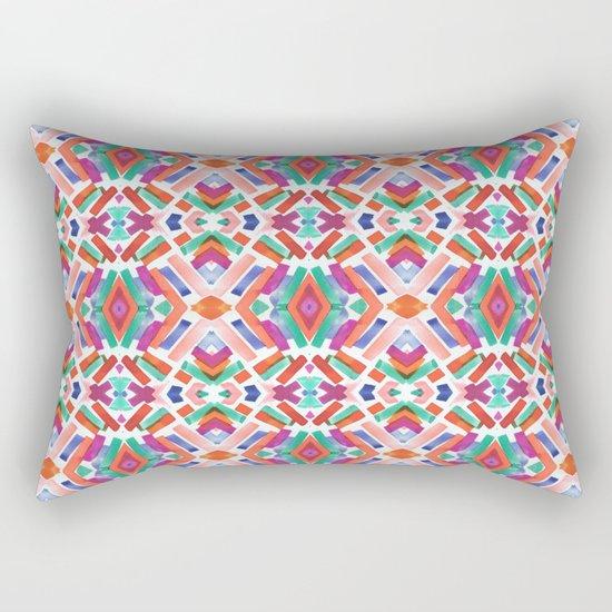 Watercolor Boho Dash 3 Rectangular Pillow