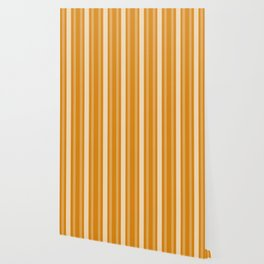 Marigold Victorian Lady Stripe Wallpaper