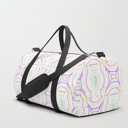2307 Outlined pattern light ... Duffle Bag