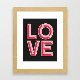 LOVE - Beveled Typography Framed Art Print