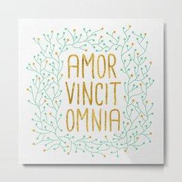 Amor Vincit Omnia Mint Metal Print