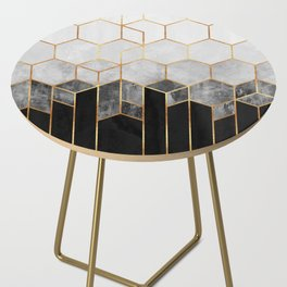 Charcoal Hexagons Side Table