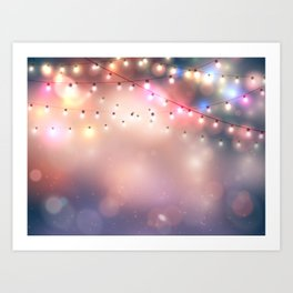 Holiday background Art Print