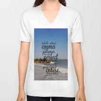 emma watson V-neck T-shirts featuring Emma  by KimberosePhotography