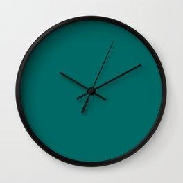 Quetzal Green Pantone fashion color trend autumn fall 2018 Wall Clock