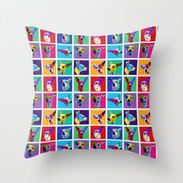 Maggie Warholed Throw Pillow