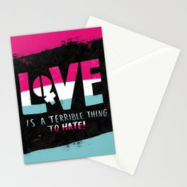 Love is a Terrible Thing to Hate Stationery Cards