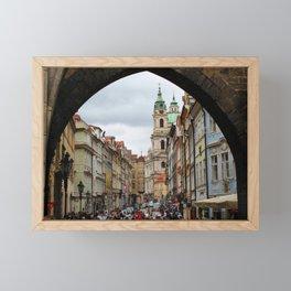 Streets of Prague Framed Mini Art Print